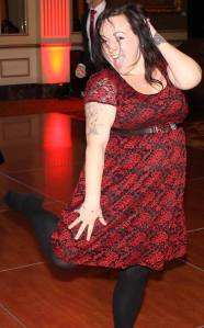 At my work Holiday Party, feeling lighter (and embracing the jiggle on the dance floor)!